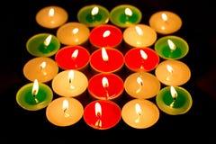 Helle Kerze der Farbe Lizenzfreie Stockfotos