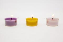 Helle Kerzen des Tees Lizenzfreie Stockfotografie