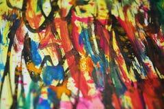Helle klare Farben, Kontraste, kreativer Hintergrund der wächsernen Farbe Stockfoto