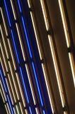 Helle Kunstinstallation in einer U-Bahn Lizenzfreies Stockfoto