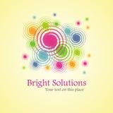 Helle Lösung (Hintergrund von den Spiralen) Stockfotos