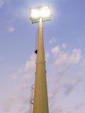 Helle Lichter in einem Stadion stockbilder