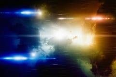 Helle Lichter im bewölkten Himmel Stockfotografie