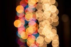 Helle Lichter im Hintergrund Lizenzfreies Stockbild