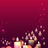 Helle Linie Fall der rosa Kerze auf rosa Hintergrund Lizenzfreie Stockbilder