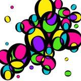 Helle mehrfarbige Kreise Gelbe, grüne, rosa Kreise lizenzfreie abbildung