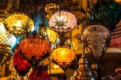 Helle mehrfarbige Lampe Lizenzfreies Stockfoto