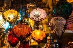 Helle mehrfarbige Lampe Stockfotos