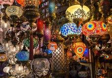 Helle mehrfarbige Lampe Stockfotografie