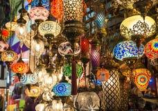 Helle mehrfarbige Lampe Stockbilder