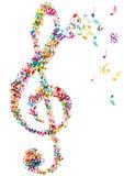 Helle Musik merkt Notenschlüssel lizenzfreie abbildung
