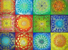 Helle Muster, helle verschiedene Farben, zeichnend Stockfotografie