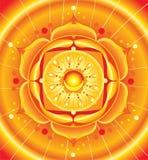 Helle orange Mandala von svadhisthana chakra vektor abbildung