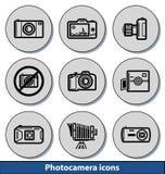 Helle photocamera Ikonen Stockfoto