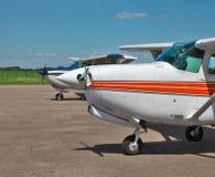 Helle Privatflugzeuge Lizenzfreies Stockfoto