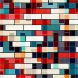 Helle psychedelische geometrische Mustervektorillustration Stockfotografie