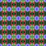 Helle purpurrote Acanthaceaeblume nahtlos vektor abbildung