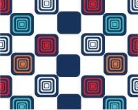 Helle Quadrate auf weißem Hintergrund, Memphis-Art, Wandpapier lizenzfreie abbildung