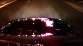 Helle Reflexionen auf Auto-Kamera POV stock footage