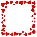 Helle rote Herzen an Valentinsgruß ` s Tag stockfotos