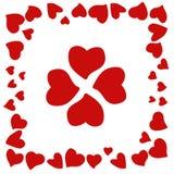 Helle rote Herzen an Valentinsgruß ` s Tag stockbilder