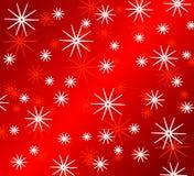 Helle rote Schneeflocke-Muster Stockbild