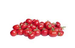 Helle rote Tomaten getrennt Lizenzfreie Stockfotografie