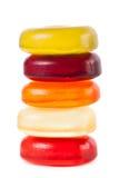 Helle Süßigkeiten lokalisiert auf einem weißen Hintergrund Lizenzfreies Stockbild