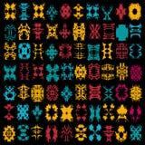 Helle Sammlung der farbigen Zusammenfassung lokalisierte Symbole für Ihr Design Lizenzfreies Stockfoto