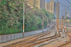 Helle Schiene in Tuen Mun Hong Kong lizenzfreies stockbild
