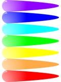 Helle Schlupfstellen der Farbe Stockfoto