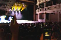 Helle Show auf dem Stadium des Dramatheaters stockbilder