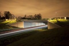 Rollender Verkehr nachts Lizenzfreies Stockbild