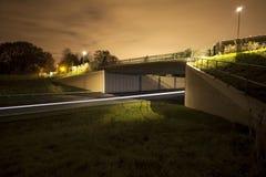 Rollender Verkehr nachts Stockfotos