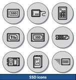 Helle SSD-Ikonen Lizenzfreie Stockbilder