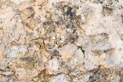 Helle Steinwand-Beschaffenheitshintergrundnahaufnahme, Fragment vom Fort in Alanya, die Türkei lizenzfreie stockfotos