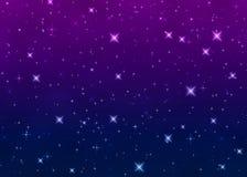Helle Sterne im nächtlichen Himmel lizenzfreie abbildung