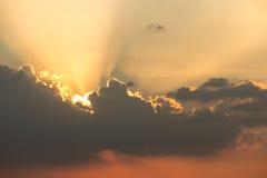 Helle Strahlen der Sonne Stockfotos