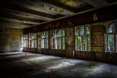 Helle Strahlen in einem alten Gebäude Stockfoto