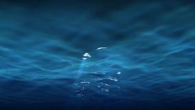 Helle Strahlen unter Wasser-Reflexionen stock abbildung