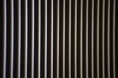 Helle Streifen durch die Vorhänge lizenzfreie stockfotografie