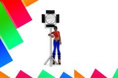 helle Studio-Illustration der Frauen-3d Lizenzfreie Stockbilder