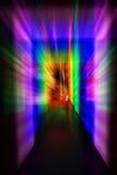 helle Tür des Regenbogens Stockfotos