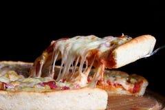 Helle weiße Pizza lizenzfreie stockfotos