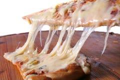 Helle weiße Pizza stockbild