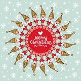 Helle Weihnachtskarte mit tex tbox. stock abbildung