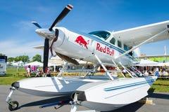 Helle Wohnwagen-Amphibie Transportturboprop-triebwerk Cessnas 208 Stockbild
