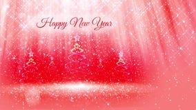 Helle Zusammensetzung für Hintergrund des neuen Jahres mit dem vielen Weihnachten 3d Baum von den Funkelnpartikeln und -scheinen  stock video footage