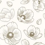 Hellebore poppy floral brown beige pattern texture Stock Photography