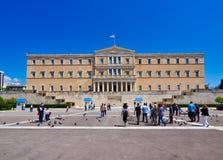 Helleens Parlementsgebouw, Athene, Griekenland royalty-vrije stock foto's